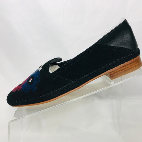 0fff50367f5 Soludos Embroidered Venetian Loafer Leather Size 8